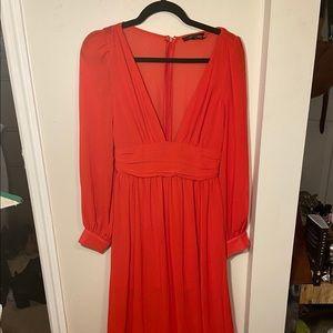 Beautiful red chiffon gown